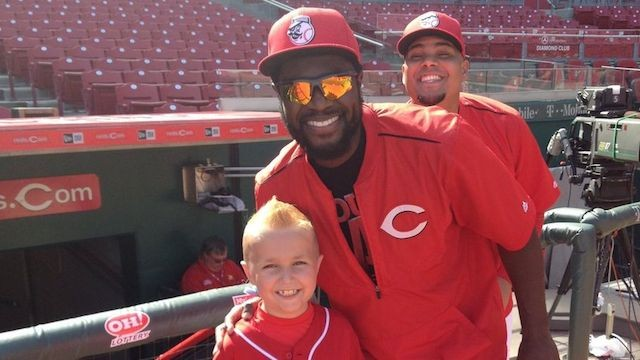 Middletown Boy Recovering from Leukemia Meets Reds' Brandon Phillips