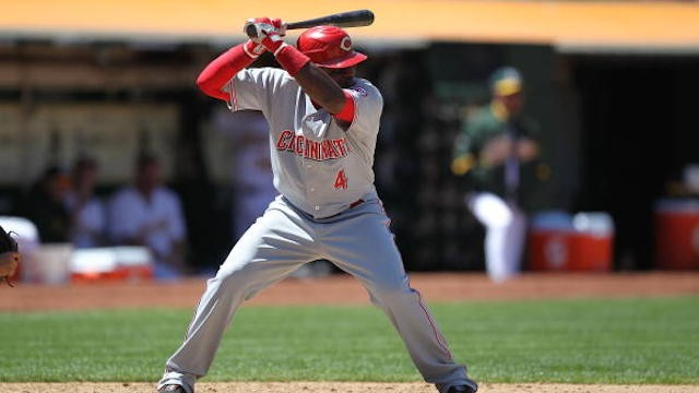 Brandon Phillips puts the Reds on the Board with an RBI double