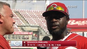 Brandon Phillips and Michael Lorenzen discuss their performances in the Reds' 6-3 win over the Brewers